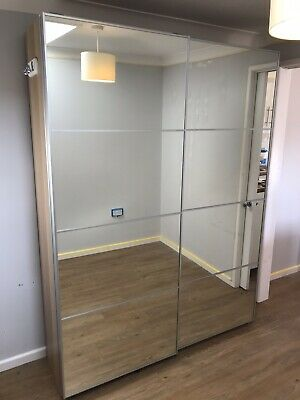best sneakers d4a69 48ecb IKEA PAX DOUBLE Wardrobe With Mirrored Sliding Doors, and 6 Drawers
