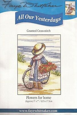 """Counted Cross Stitch All Our Yesterdays 7/"""" x 5/"""" Gone Potty 073-17"""