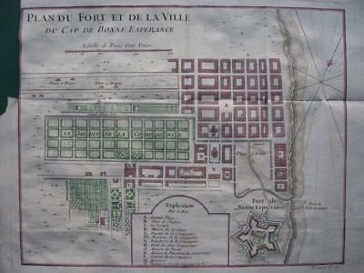 1749 - BELLIN - SOUTH AFRICA  City plan CAPE TOWN