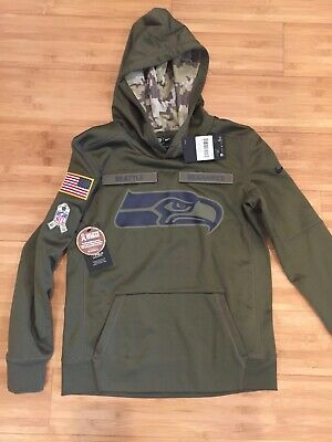 07fd9037748 Nike NFL Salute to Service Seattle Seahawks Hoodie (Youth Medium +Free  Shipping)