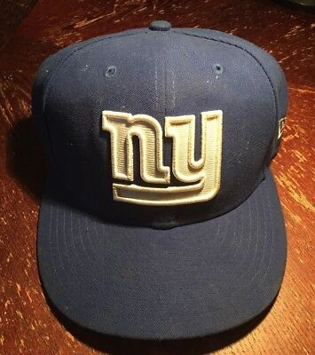 66f757558b2 NY GIANTS BLUE New Era NFL Official 59FIFTY Fitted Hat Cap -  13.70 ...