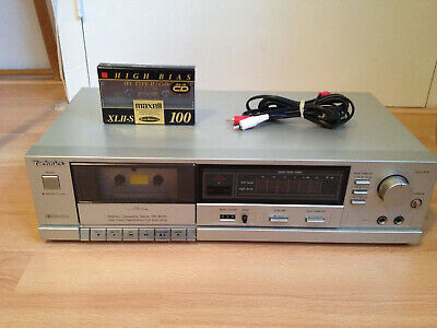 80's Vintage Technics RS-B105 Stereo Cassette Tape Deck Silver Record Tested VTG