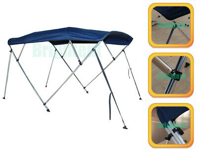 """Bimini Top 85""""-90"""" Free Clips 4 Bow Boat Canopy Cover 8 ft Support Poles GB4N2"""