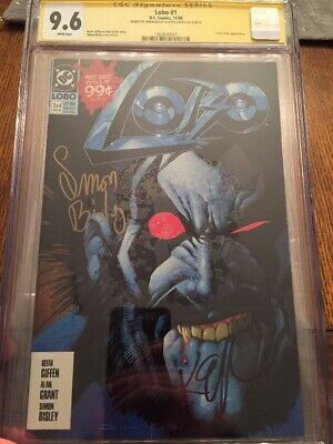 Lobo 1  1990  DC - CGC SS 9.6 Signed by Keith Giffen & Simon Bisley 1st Solo