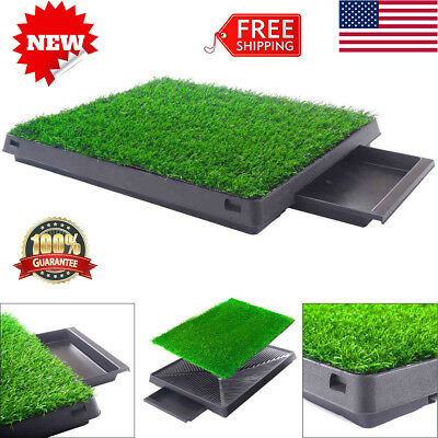 Puppy Dog Grass Toilet Pad Pet Potty Training Pee Indoor Trainer Pee Mat Turf US