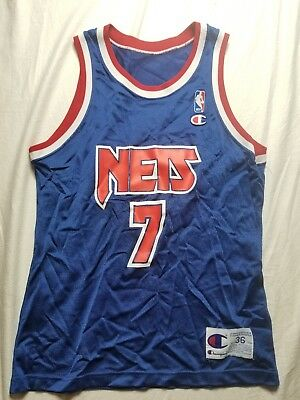 32a035142 Vintage Kenny Anderson New Jersey Nets Champion Jersey 1991 Rookie Team  Edition