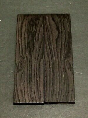 Thin African Blackwood Bookmatched Knife Handle Scale Pistol Grip Wood (BULK)