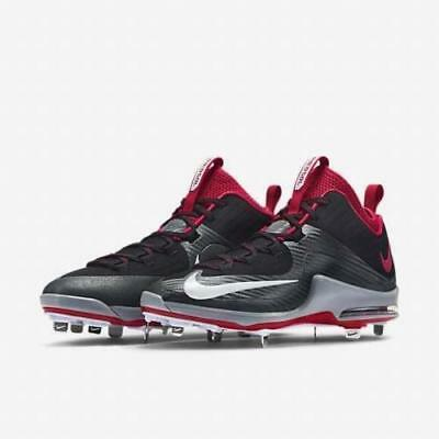 outlet store 753c5 e4f89 Nike Air Max MVP Elite 2 3 4 Metal Baseball Cleats Men s 12 Black Red