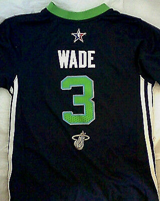 Adidas Dwyane Wade 2014 NBA All Star Game Shooting Shirt YOUTH M basketball  heat 98c6888f2680b