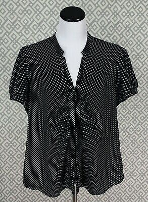 Womens Cato Short Sleeve Button Down Pleated Top Blouse Shirt Plus Size 18/20 1X