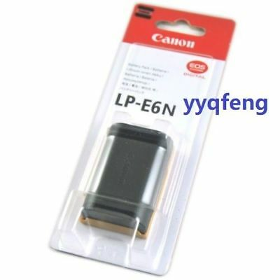Genuine Canon LP E6N LPE6N Battery E6 battery For EOS 5D2 5D3 6D 60D 70D 7D Mar