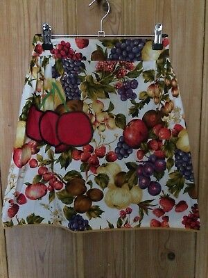 Original Vintage 50s 60s ladies apron Fruit , Taniwha, Retro Pinup Rockabilly