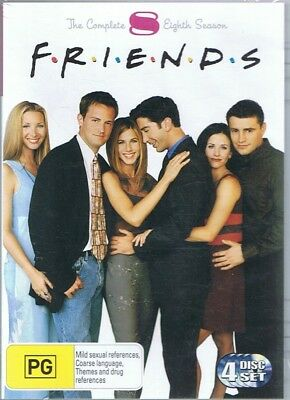 FRIENDS The Complete Eighth 8th Season 8 (4 x DVD Set) NEW & SEALED Free Post