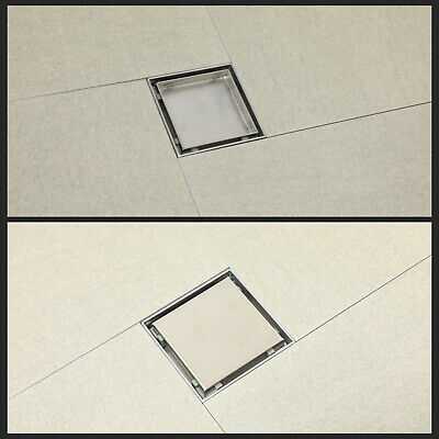 Invisible Stainless Steel Shower Floor Drain Waste Grate Bathroom Shower Drain