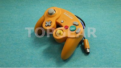 Nintendo Official GameCube Wii Controller Orange Color  TESTED