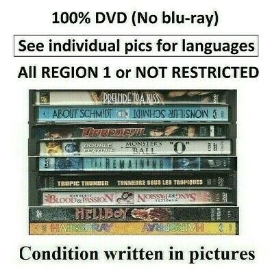 DVD SELECTION PLUSIEURS FILMS BILINGUES (REGION 1, Canada-USA or Not Restricted)