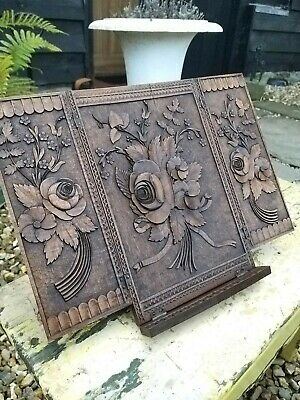 A Wonderful Carved Bookstand Blackforest For Restoration