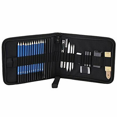 Hilitand 33pcs H 0026 B Profesional Sketching Drawing Pencils Kit Set