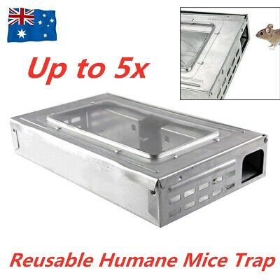 Multi Live Catch Mouse Rat Humane Safe Self Catching Metal Mice Trap Reusable AU