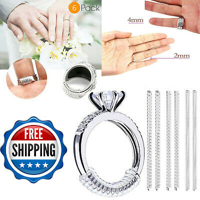 Ring Size Reducer Resizer Adjuster 6pcs Ring Size Clip Guard Invisible Design UK