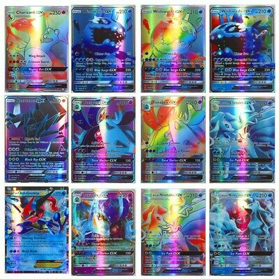 120Pcs Pokemon Cards 115 GX+5 MEGA Holo Flash Trading Cards Bundle Mixed 2019 GH