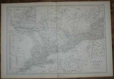 Map: 1884 Blackie's Map of Canada - The Province of Ontario and part of Quebec