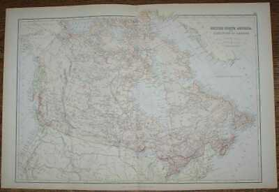 Map: 1884 Blackie's Map of British North America - The Dominion of Canada