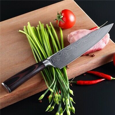 Professional 8Inch Chef Knife 7CR17MOV High Carbon Stainless Steel Kitchen Knife