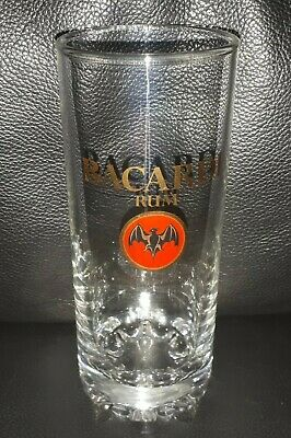 Rare Collectable Bacardi Rum Glass Tumbler In Great Used Condition