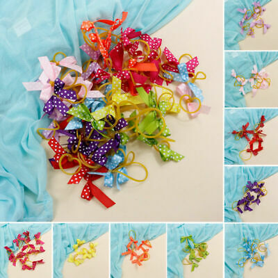 100pcs Dog Hair Bows Topknot Pet Hair Bows Colors Mix Grooming Accessories