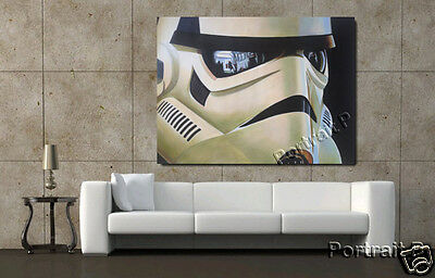 Stormtrooper Oil Painting Star Wars Art Canvas Hand-Painted NOT a Print 36x48