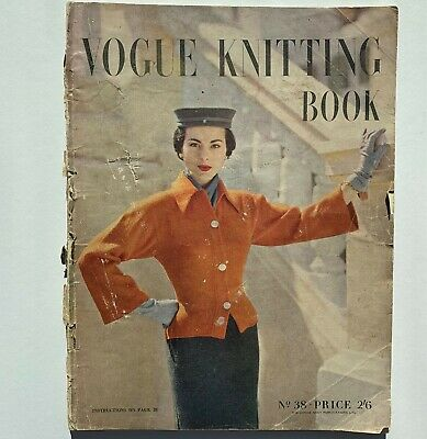 s/s 1951 50s vintage Vogue fashion knitting book 38 day evening blouses cardis