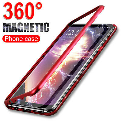 360° Magnetic Adsorption Case for SAMSUNG GALAXY S10Plus S10e Hybrid Glass Cover