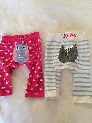 50cb8070c094b7 JOULES 2 PACK Lively Leggings 0-6 Months New Girl Picture Bottoms ...