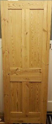 Original Pine Edwardian Internal Door - Stripped, Filled & Sanded (Medium Door)