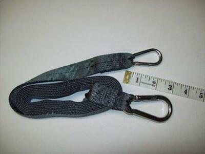 9 FOOT TOW STRAP w/HEAVY DUTY SNAPLINKS / CARIBEANERS - Use to Tow Sled
