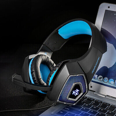 Hunterspider V1 Stereo Bass Gaming Headset Headphone for PS4 Xbox One PC Mic