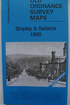Old Ordnance Survey Map Shipley & Saltaire 1890 (Coloured)