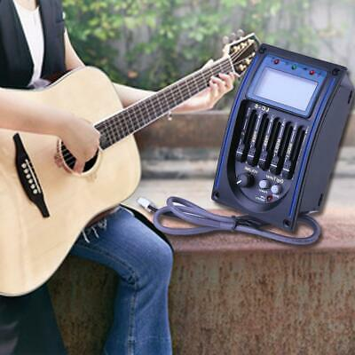 USA LC-5 5-Band Acoustic Guitar Pickup System Balance EQ LCD Tuner Accessories