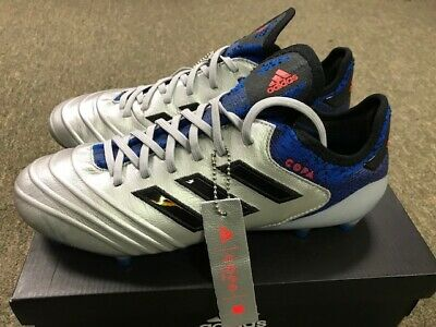 d5e74c60531 Adidas Copa 18.1 FG Mens Soccer Cleats DB2166 Silver Black Blue New in Box