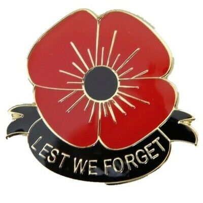 US STOCK LEST We Forget Remember Peace Memory Red Poppy