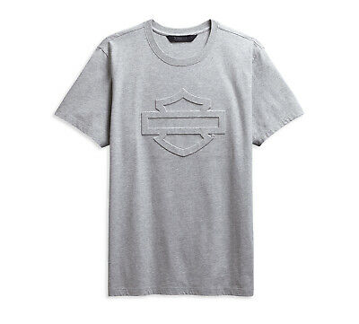 Harley-Davidson Embossed Logo Slim Fit Tee T-Shirt Gr. L - Heather Grey (Grau)