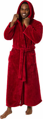 e1e3b45dfd Ross Michaels Mens Luxury Hooded Full Length Big and Tall Long Bath Robe