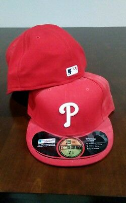 a524a64f23b NEW ADULT MLB Philadelphia Phillies Home Red World Series Hat Cap sz ...