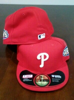 45a06c9ba1e New Adult MLB Philadelphia Phillies Home Red World Series Hat Cap sz 7 3 8
