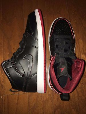 882e450f71b NIKE JORDAN 1 MID BP 640734 028 Black White Red KIDS SIZE 3 -  36.85 ...