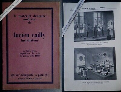 Rare catalogue LUCIEN CAILLY. MATERIEL DENTAIRE 1925 Mobilier Dentiste Ritter