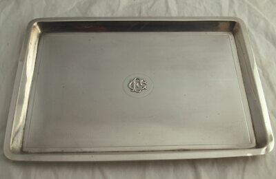 Fine Solid Silver Dressing Table Tray - 450g - London 1915