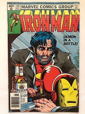 """Iron Man #128 Classic Bob Layton """"Demon in a Bottle"""" Cover Cent Copy"""