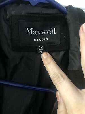 4b5a0d22be5c4 Maxwell Studio Women s Tulip Faux Wool Double-Breasted Pea coat Size 4X NEW  P